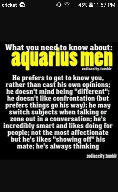 What attracts a aquarius man