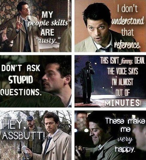 Funny Castiel Quotes: Supernatural Preferences