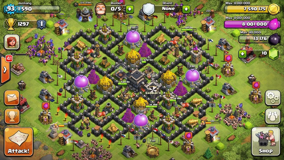 clash of clans clash th 9 base wattpad