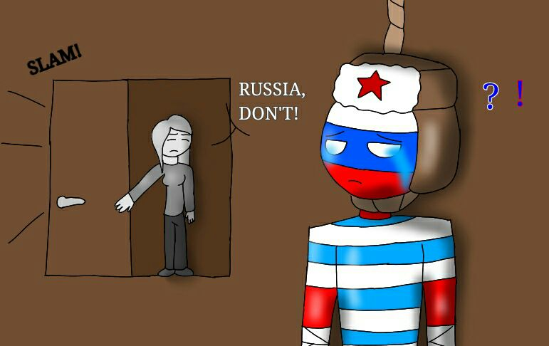 Countryhumans oneshots. - Russia x reader: Don't do it ...