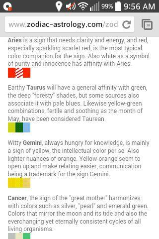 Zodiac Sign Scenarios And More Colors Wattpad