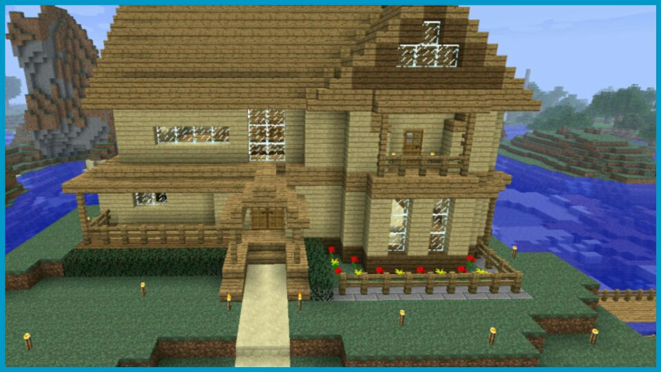 Pics for minecraft wooden house construction handbook - Video minecraft construction ...