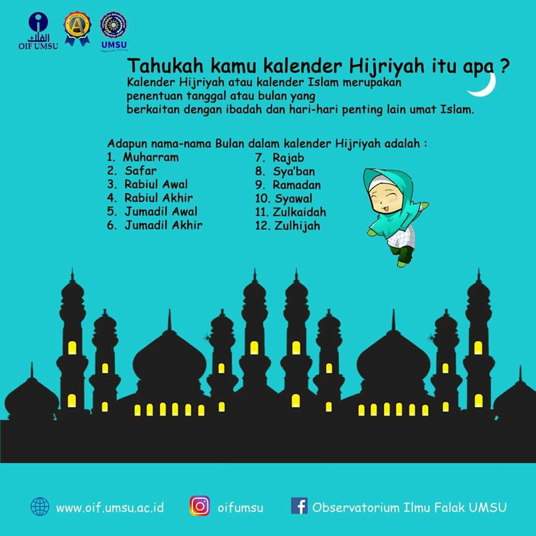 13 Paling Laju Nama Bulan Islam