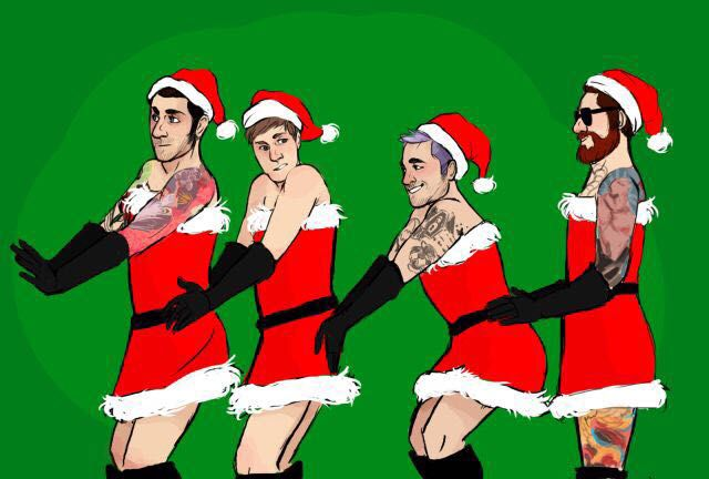 andy andyhurley boy fall falloutboy falloutboyimagines falloutboyprefrences hurley imagines joe joetrohman out patrick patrickstump pete - Fall Out Boy Christmas