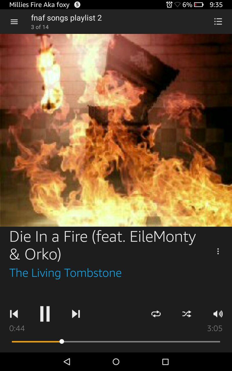 Fnaf Song lyrics (Requests!) - die in a fire - Wattpad