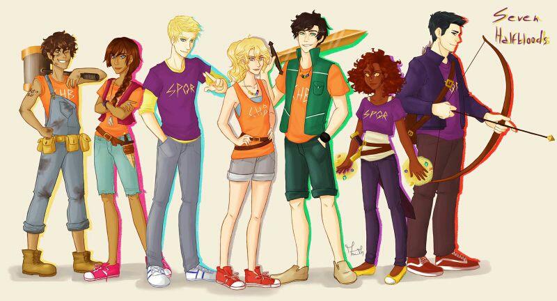 Protagonistas da série Os Heróis do Olimpo